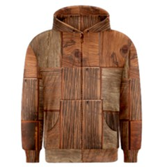 Barnwood Unfinished Men s Zipper Hoodie by BangZart