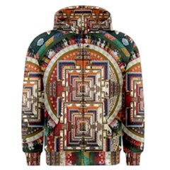 Colorful Mandala Men s Zipper Hoodie by BangZart