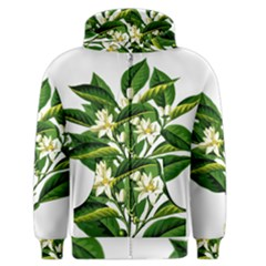 Bitter Branch Citrus Edible Floral Men s Zipper Hoodie by Nexatart
