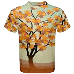 Branches Field Flora Forest Fruits Men s Cotton Tee by Nexatart