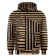 Wooden Pause Play Paws Abstract Oparton Line Roulette Spin Men s Zipper Hoodie