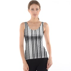 Barcode Pattern Tank Top