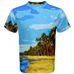 Landscape Men s Cotton Tee by Valentinaart