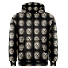 Cute Animal Drops   Meerkat Men s Zipper Hoodie by MoreColorsinLife