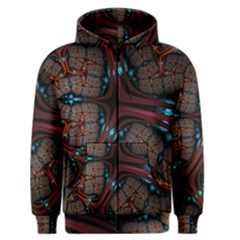 Surface Grid Lines  Men s Zipper Hoodie by amphoto