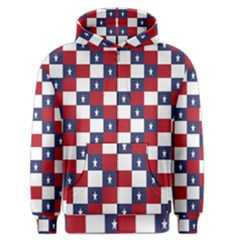 American Flag Star White Red Blue Men s Zipper Hoodie by Mariart