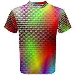 Abstract Rainbow Pattern Colorful Stars Space Men s Cotton Tee by Mariart