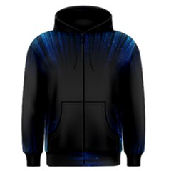 Colorful Light Ray Border Animation Loop Blue Motion Background Space Men s Zipper Hoodie by Mariart