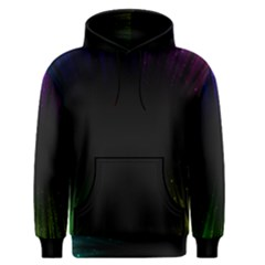 Colorful Light Ray Border Animation Loop Rainbow Motion Background Space Men s Pullover Hoodie by Mariart