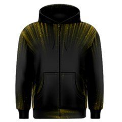 Colorful Light Ray Border Animation Loop Yellow Men s Zipper Hoodie by Mariart