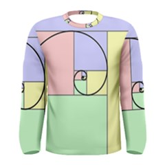 Golden Spiral Logarithmic Color Men s Long Sleeve Tee by Mariart