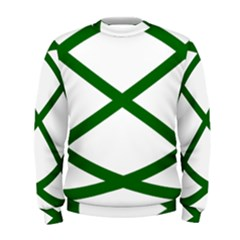 Lissajous Small Green Line Men s Sweatshirt by Mariart