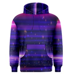 Massive Flare Lines Horizon Glow Particles Animation Background Space Men s Pullover Hoodie by Mariart