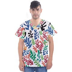 The Wreath Matisse Beauty Rainbow Color Sea Beach Men s V Neck Scrub Top by Mariart