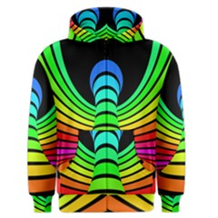 Twisted Motion Rainbow Colors Line Wave Chevron Waves Men s Zipper Hoodie by Mariart