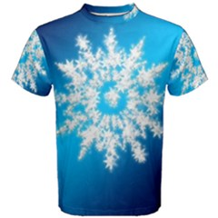 Background Christmas Star Men s Cotton Tee by Nexatart