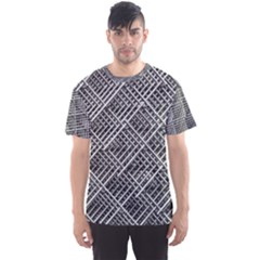 Grid Wire Mesh Stainless Rods Men s Sports Mesh Tee by Nexatart