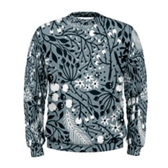 Abstract Floral Pattern Grey Men s Sweatshirt by Mariart