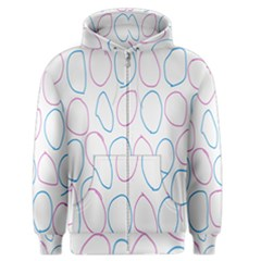 Circles Featured Pink Blue Men s Zipper Hoodie by Mariart