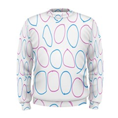 Circles Featured Pink Blue Men s Sweatshirt by Mariart