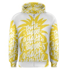 Cute Pineapple Yellow Fruite Men s Zipper Hoodie by Mariart