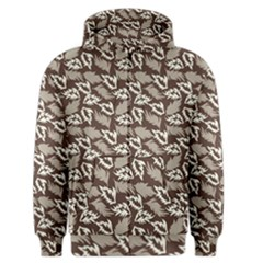 Dried Leaves Grey White Camuflage Summer Men s Zipper Hoodie by Mariart