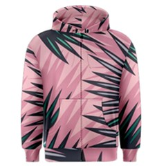Graciela Detail Petticoat Palm Pink Green Men s Zipper Hoodie