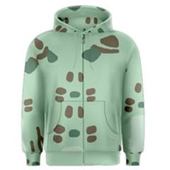 Lineless Background For Minty Wildlife Monster Men s Zipper Hoodie by Mariart