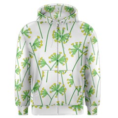 Marimekko Fabric Flower Floral Leaf Men s Zipper Hoodie by Mariart