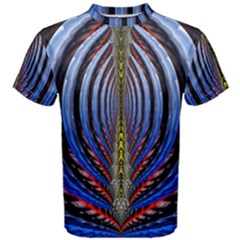 Illustration Robot Wave Rainbow Men s Cotton Tee by Mariart