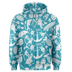 Summer Icons Toss Pattern Men s Zipper Hoodie by Mariart