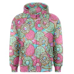 Donuts Pattern Men s Zipper Hoodie by ValentinaDesign