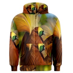 Birds Paradise Cendrawasih Men s Zipper Hoodie by Mariart