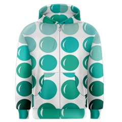 Bubbel Balloon Shades Teal Men s Zipper Hoodie by Mariart