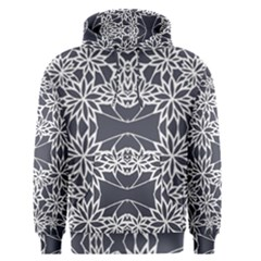 Blue White Lace Flower Floral Star Men s Pullover Hoodie by Mariart