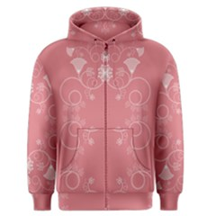 Flower Floral Leaf Pink Star Sunflower Men s Zipper Hoodie by Mariart