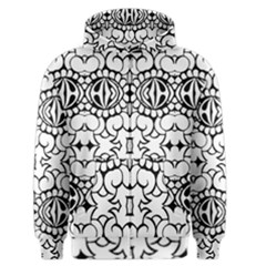 Psychedelic Pattern Flower Crown Black Flower Men s Zipper Hoodie by Mariart