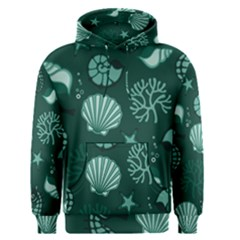 Vector Seamless Pattern With Sea Fauna Seaworld Men s Pullover Hoodie by Mariart