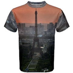 Paris France French Eiffel Tower Men s Cotton Tee