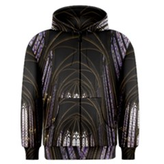 Sainte Chapelle Paris Stained Glass Men s Zipper Hoodie by Nexatart