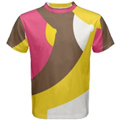 Breast Pink Brown Yellow White Rainbow Men s Cotton Tee by Mariart