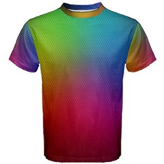 Bright Lines Resolution Image Wallpaper Rainbow Men s Cotton Tee by Mariart
