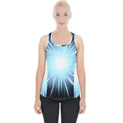 Bright Light On Black Background Piece Up Tank Top by Mariart