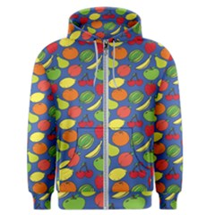 Fruit Melon Cherry Apple Strawberry Banana Apple Men s Zipper Hoodie by Mariart