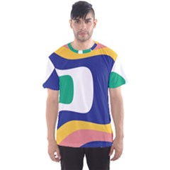 Rainbow Pink Yellow Bluw Green Rainbow Men s Sports Mesh Tee