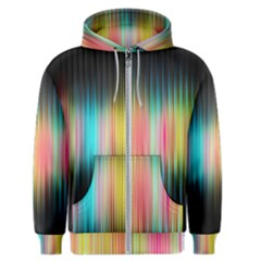 Sound Colors Rainbow Line Vertical Space Men s Zipper Hoodie by Mariart