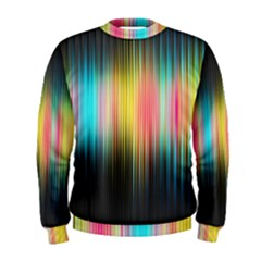 Sound Colors Rainbow Line Vertical Space Men s Sweatshirt by Mariart