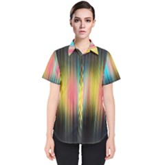Sound Colors Rainbow Line Vertical Space Women s Short Sleeve Shirt by Mariart