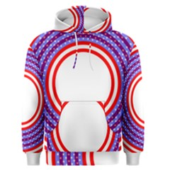 Stars Stripes Circle Red Blue Space Round Men s Pullover Hoodie by Mariart