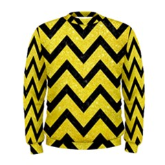 Chevron9 Black Marble & Gold Glitter (r) Men s Sweatshirt by trendistuff